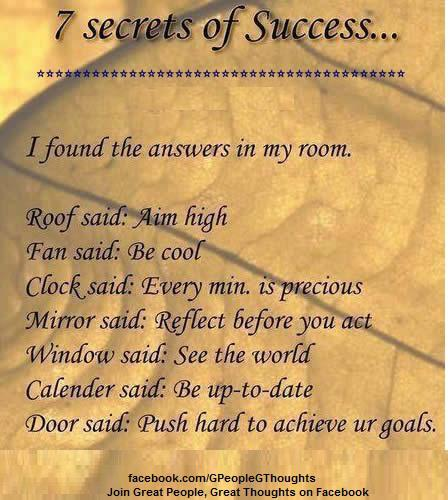 7 secrets of success...